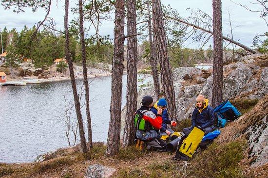 Skargardens Kanotcenter Kayaks & Outdoor: Outdoor lunch with amazing views