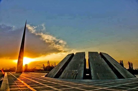 Tsitsernakaberd: Monument in honor of the victims of the 1915 Genocide of Armenians. On April 24th 1915 Ottoman Turks ordered the elimination of all Armenians living in the empire. The elimination of the Armenians had been planned carefully so that it would not be noticed.