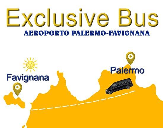 Exclusive bus Palermo Favignana