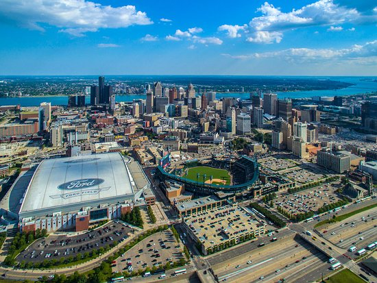 Detroit Attractions Map on