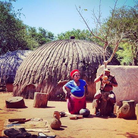 Shakaland - Zulu Cultural Center: Preparing the local brew.