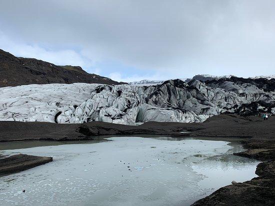 The snout of the glacier.