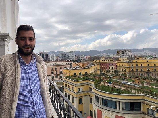 A face mais verdadeira do comunismo: My wonderful tour guide and Tirana from the clocktower
