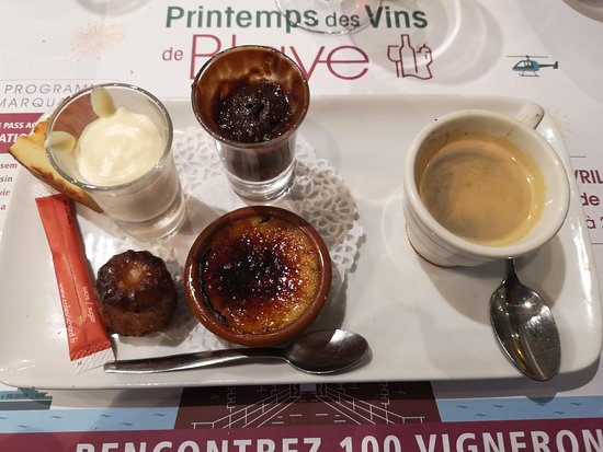 Saint-Savin, Frankrike: Cafe gourmand