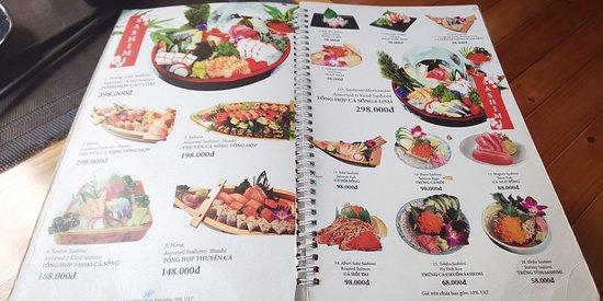 寿司のメニューが充実しています。