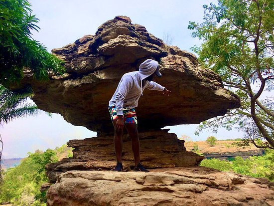 Boti, Ghana: Amazing hike filled with historical scenery and water fall. The umbrella rock and much more.