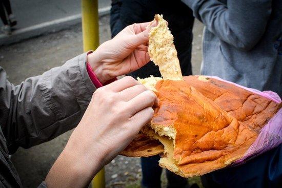 Surami, Georgia: Nazuki - Georgian spicy sweet bread made with raisins🥠🥟🥖🥐💯👌🏻