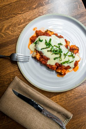 Cannelloni with Fennel Sausage, Pomodoro, and Bechemel