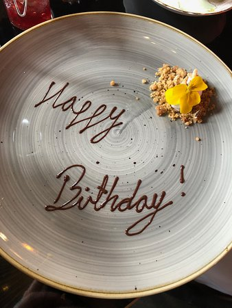 Birthday plate for those who are celebrating