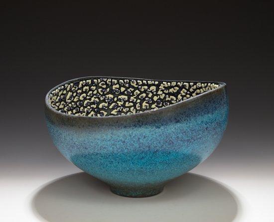 Ladysmith, Canada: Altered Vessel with layered glazes
