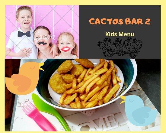 CACTOS 2 BAR  ALVOR: Kids Menu