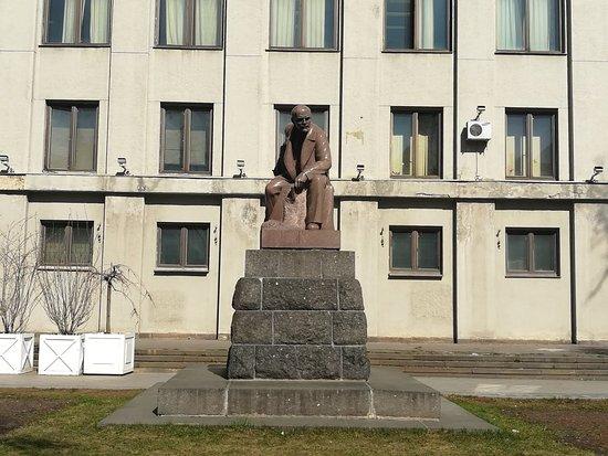 Monument to Lenin on Tverskaya Square