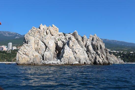 Гурзуф: Вид на островок о стороны моря