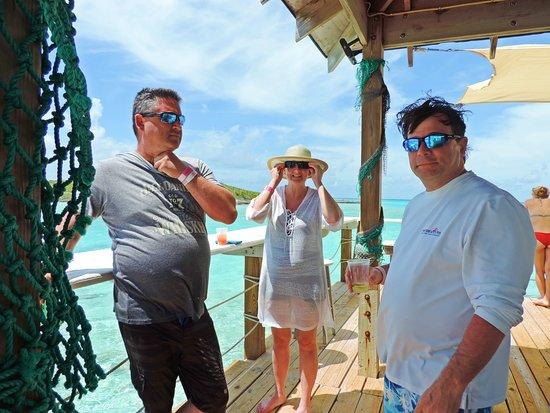 Aventura de lancha em Exuma: Getting ready to head back on board the Powerboat Adventure boat