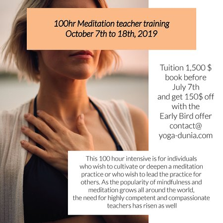 100hr Meditation Teacher Training - October 2019
