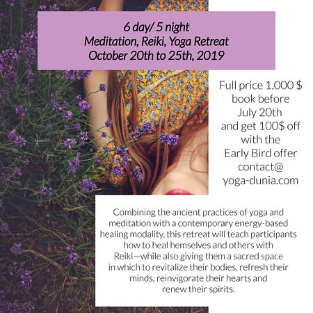 6 Day Meditation, Reiki & Yoga Retreat October 2019