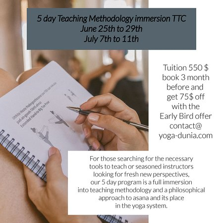 5 day Teaching Methodology Immersion - June & July 2019