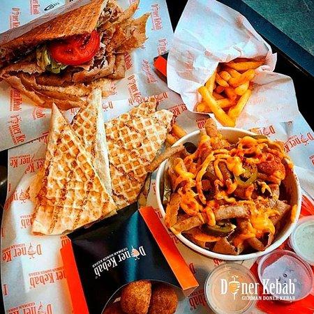 German Doner Kebab: Doner Kebab, Doner Quesadilla, Fries, Chilli Cheese Bites, Nacho Fries