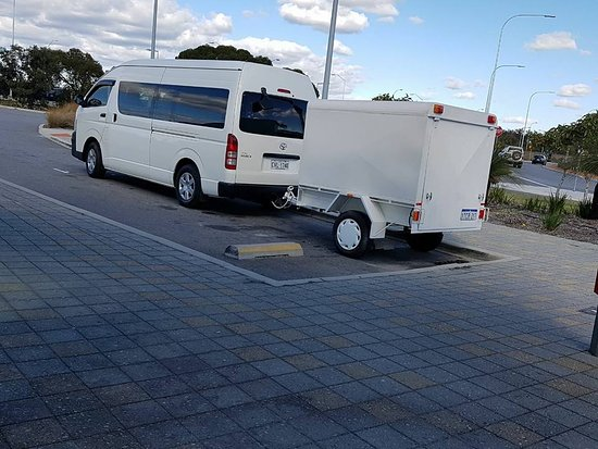 Perth Minibus Charters: You have extra luggage? No problem... we have the enclosed trailer.
