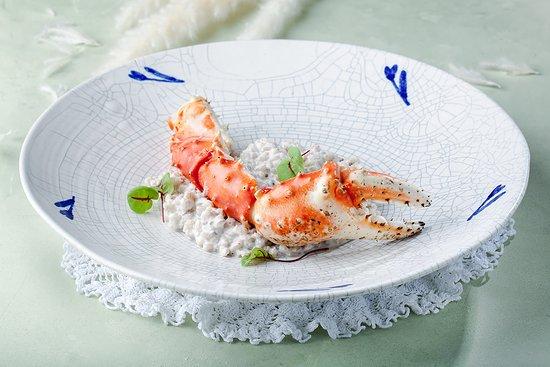 Orzotto with Kamchatka crab