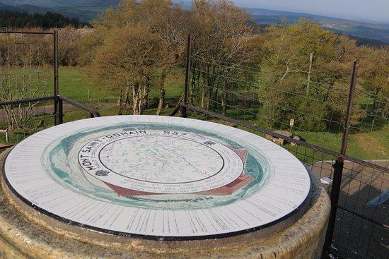 Mont Saint-Romain: La table d'orientation du mont saint romain