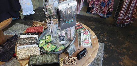 Mineola, TX: Lots of really cool eclectic hand bags and wallets.