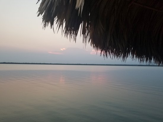 Maya Beach, بليز: view from our lagoon deck @potliquorspub