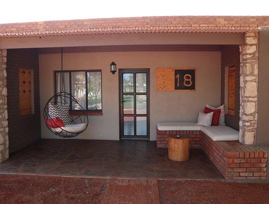Terrace outside lodge