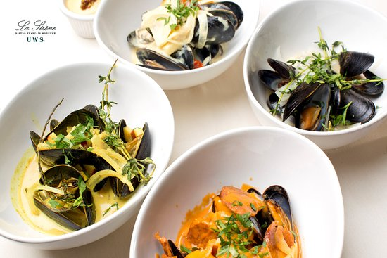 La Sirene UWS: Mussels 4 different recipes