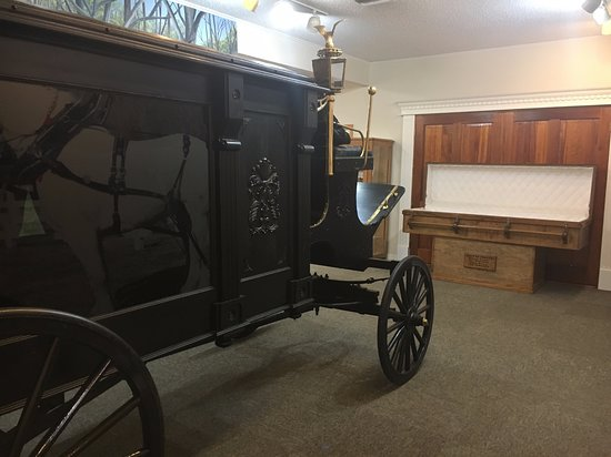 Angola, LA: Coffin and hearse - made by inmates for inmates, many of whom were serving a life sentence.