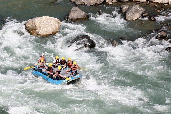 Dhading, Nepal: Rafting at Trisuli river