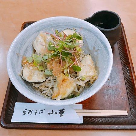 Kosuge: 揚げ茄子の冷たい蕎麦