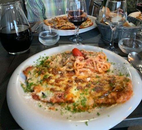 Courcelles, Belgia: L'escalope avec le vin du patron