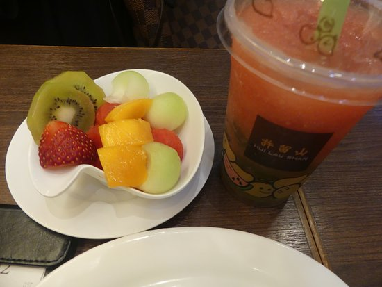 Mixed Fruits In Watermelon Juice Aloe Jelly In Watermelon Juice Picture Of Hui Lau Shan Argyle Street Hong Kong Tripadvisor