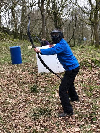 Lake District archery tag and tag archery in Coniston for families, corporate team building and events