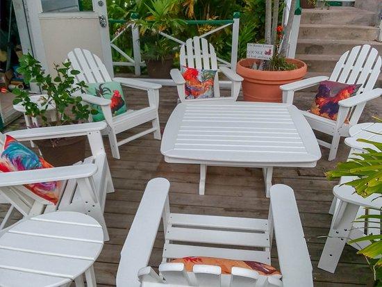 Nice shaded sitting area