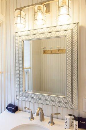 Surfside King Bathroom with Bluetooth Shower Head & Luxury Amenities