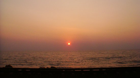 Sunset ,Bambalapitiya. Best of sunsets are to be seen between March/April .Though Galle Face is the most popular location in Colombo ,there are many other equally good and more secluded points along the coast line .