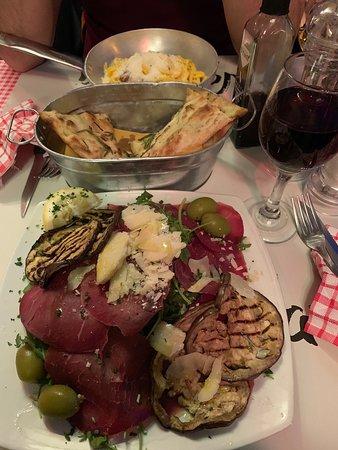 Good pasta and wine