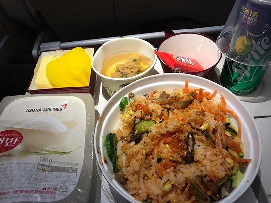 Asiana Airlines: อาหารบนเครื่องบินเส้นทาง SEA - ICN - BKK