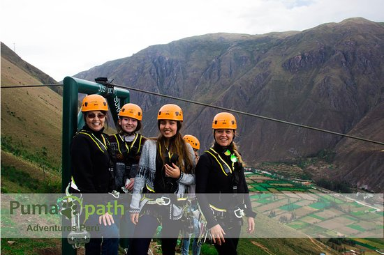 Puma Path Zip Line: A happy group enjoying the dramatic views and a zip line ride of 1.8 km.
