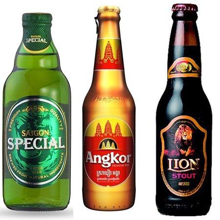 ベトナム産 サイゴンスペシャル  / カンボジア産 アンコールビール / スリランカ産 ライオンスタウト 8.8%