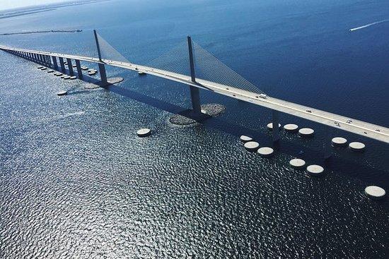 壮观的直升机之旅 - 坦帕湾,Skyway桥,Pinellas公司的海滩