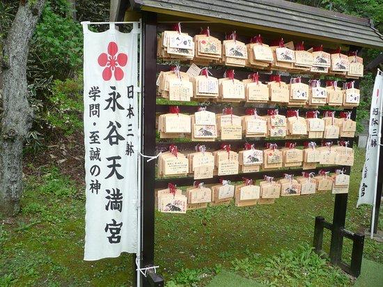 Nagaya-temmangu Shrine: 受験の合格を祈る札が沢山並んでいました。