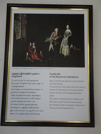 Tranquebar, Индия: Information on Family life in the Governor's Residence