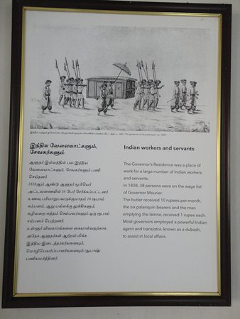 Tranquebar, Индия: Information on Indian workers and servants.