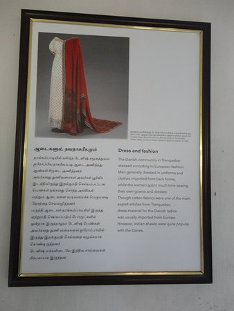 Tranquebar, Индия: Danish dresses.