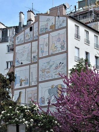 """Fresque """"La façade animée"""""""