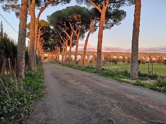 Esterno di Appio Claudio Chef. Viale Appio Claudio. Si possono fare meravigliose passeggiate nel sito archeologico dell'Acquedotto Romano.