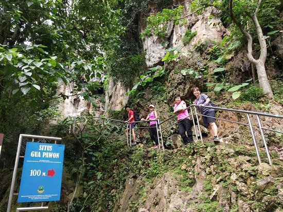 Cimahi, Indonesia: Exploring Pawon Cave, a natural cave in the form of an ancient historical site located in the West Bandung region